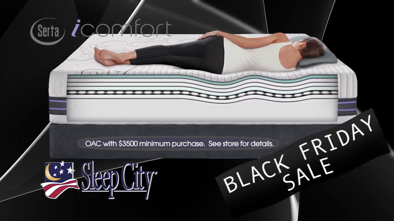 video sleep city serta black friday specials jennifer heggen tvc ad. Black Bedroom Furniture Sets. Home Design Ideas