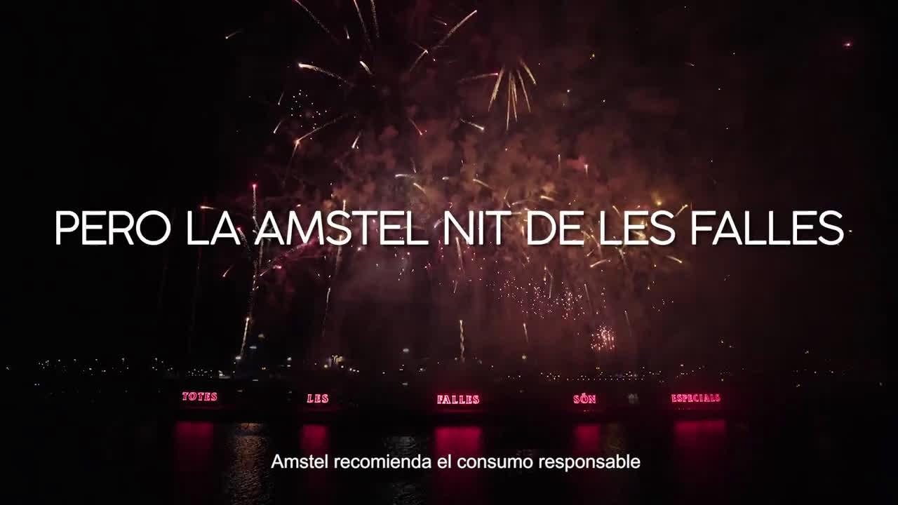 Amstel NIT DE LES FALLES anuncio
