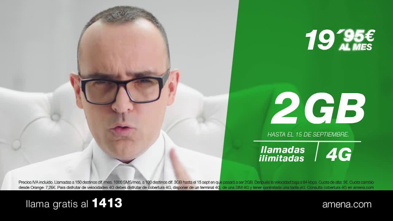 Amena Mandamientos - Tarifa 19,95€ 3GB  anuncio