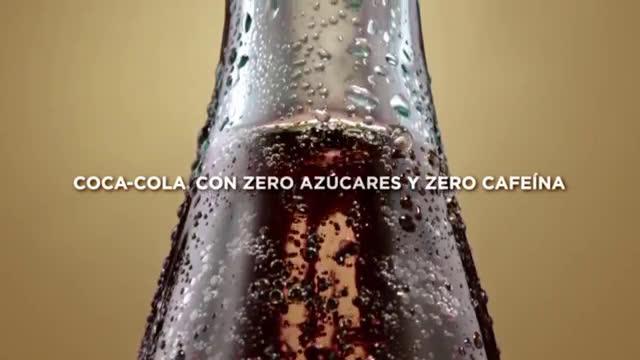 Coca Cola Siente el Sabor de una Coca-Cola con Zero azúcar y Zero cafeína anuncio