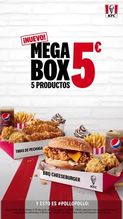 KFC Megabox: 5 productos por 5 euros anuncio
