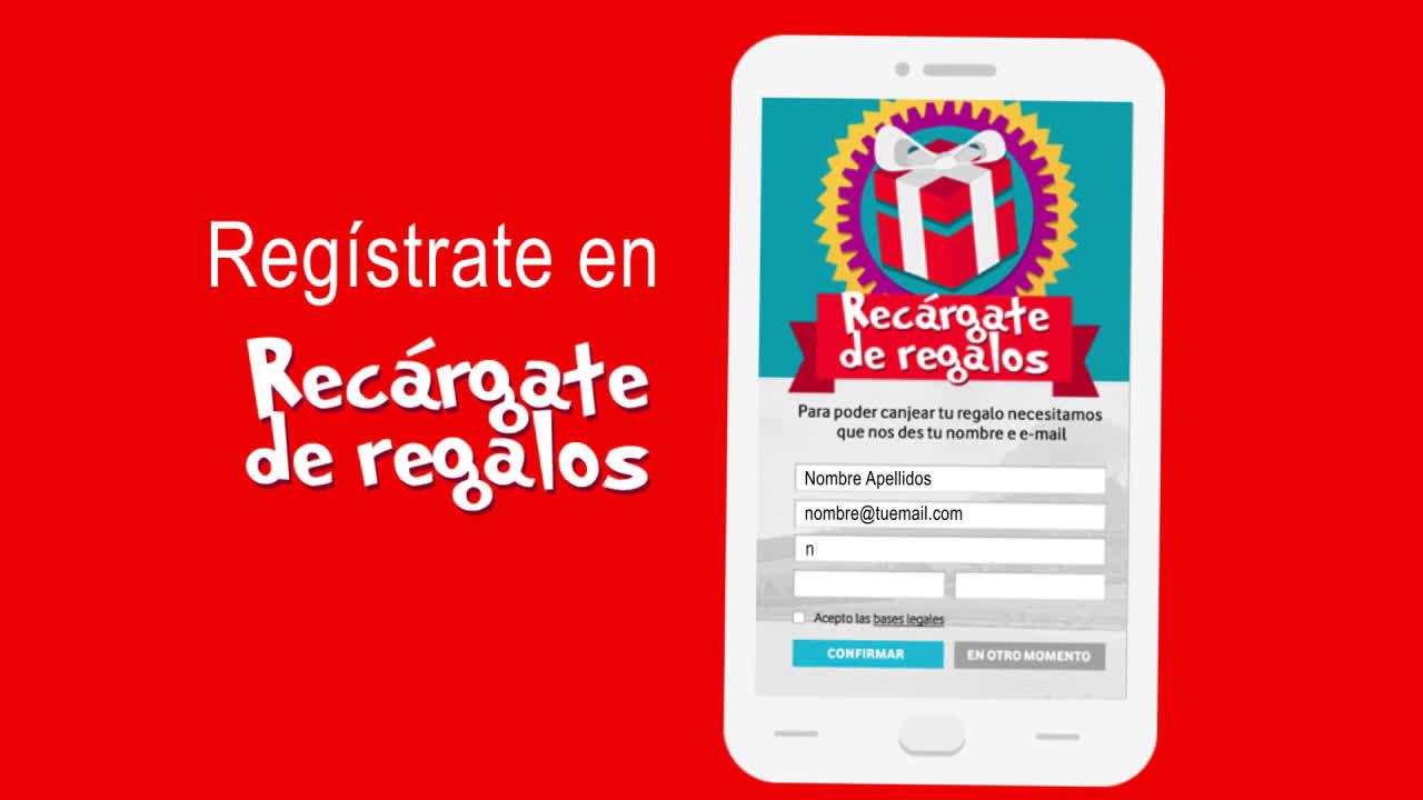 Vodafone Recargate de Regalos Prepago anuncio
