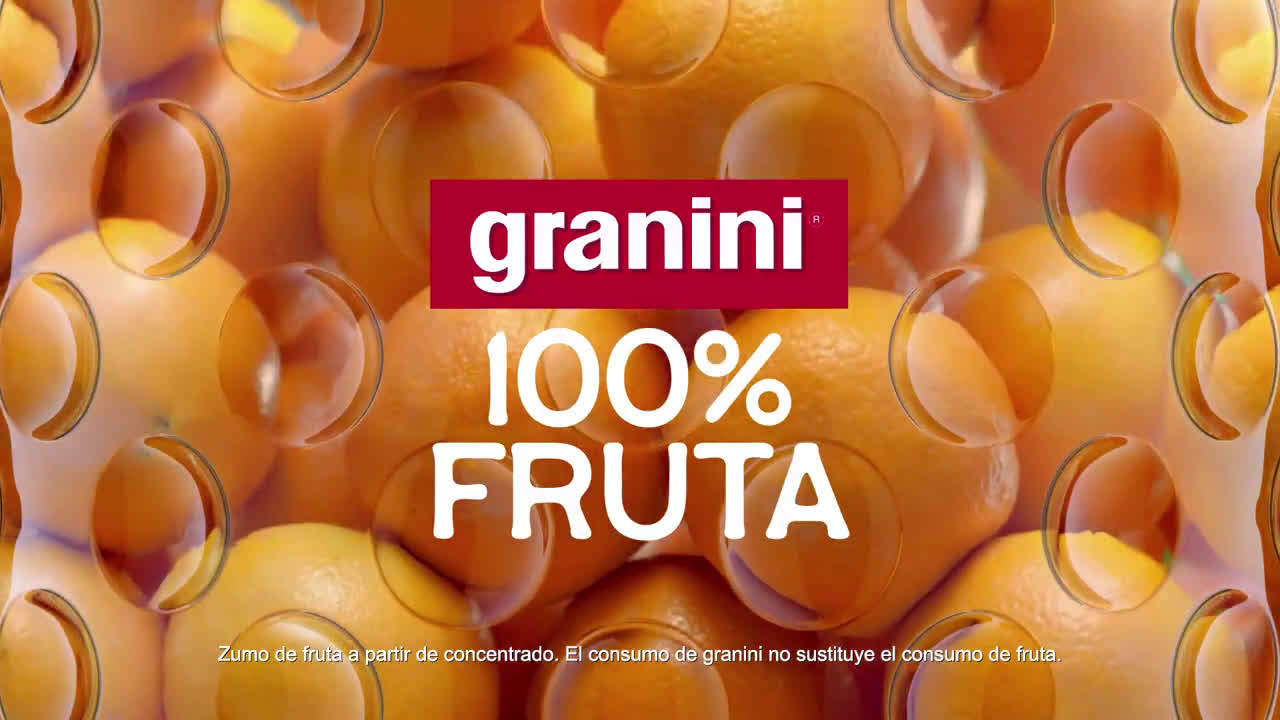 granini Nuevos granini 100% fruta - Naranja anuncio