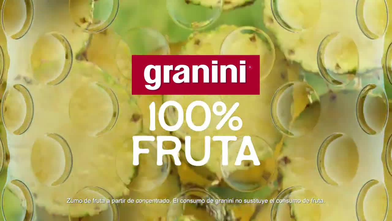 granini Nuevos granini 100% fruta - Piña anuncio