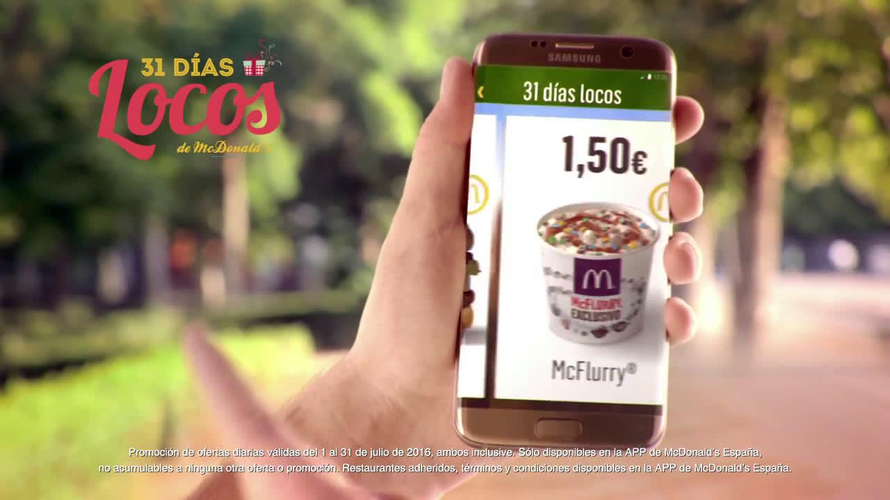 McDonald Llegan los 31 Días Locos anuncio