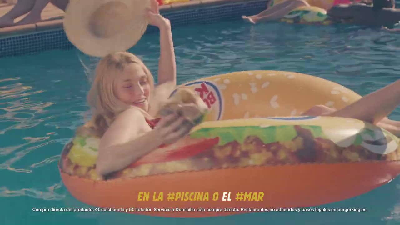 Burger King #COLCHONETAS EN #BURGERKING, #NITANMAL anuncio
