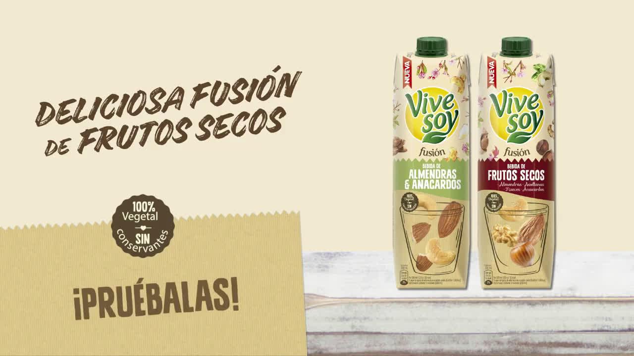 Vive Soy Descubre las nuevas bebidas Fusión anuncio