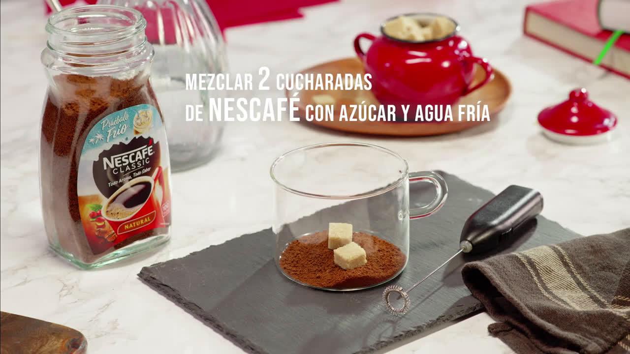 Nescafe Receta NESCAFÉ Frappé batido de café y chocolate extrafino anuncio