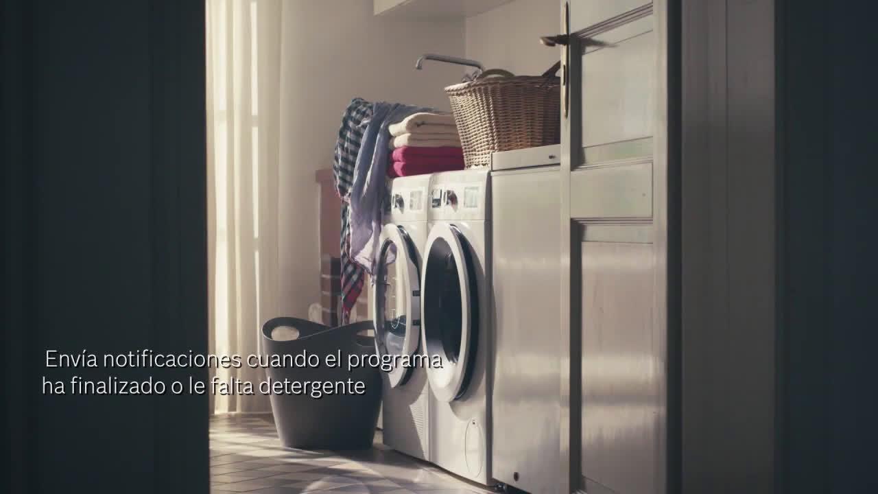 Bosch Lavadora inteligente Bosch con Home connect anuncio