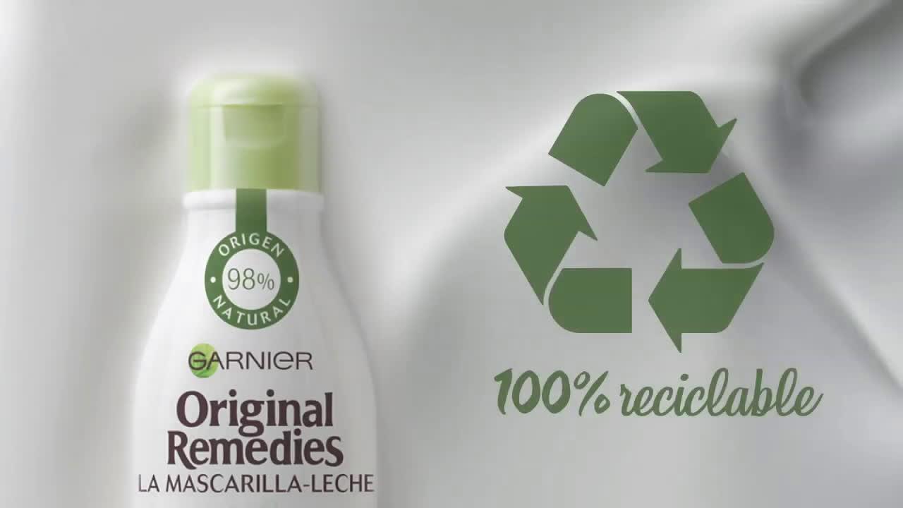 Garnier ¡Descubre la Nueva Mascarilla - Leche de Original Remedies! Garnier anuncio