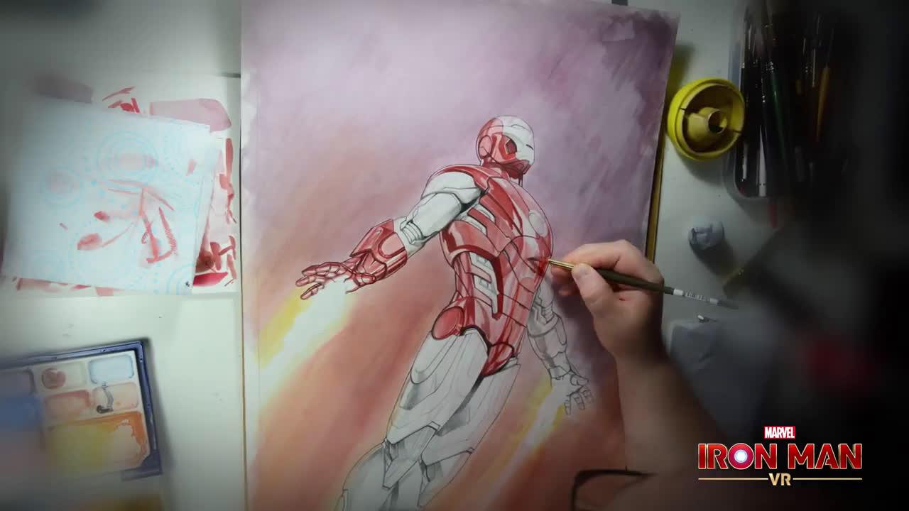 PlayStation MARVEL'S IRON MAN VR Timelapse DIBUJANDO la IMPULSE ARMOR | PSVR anuncio