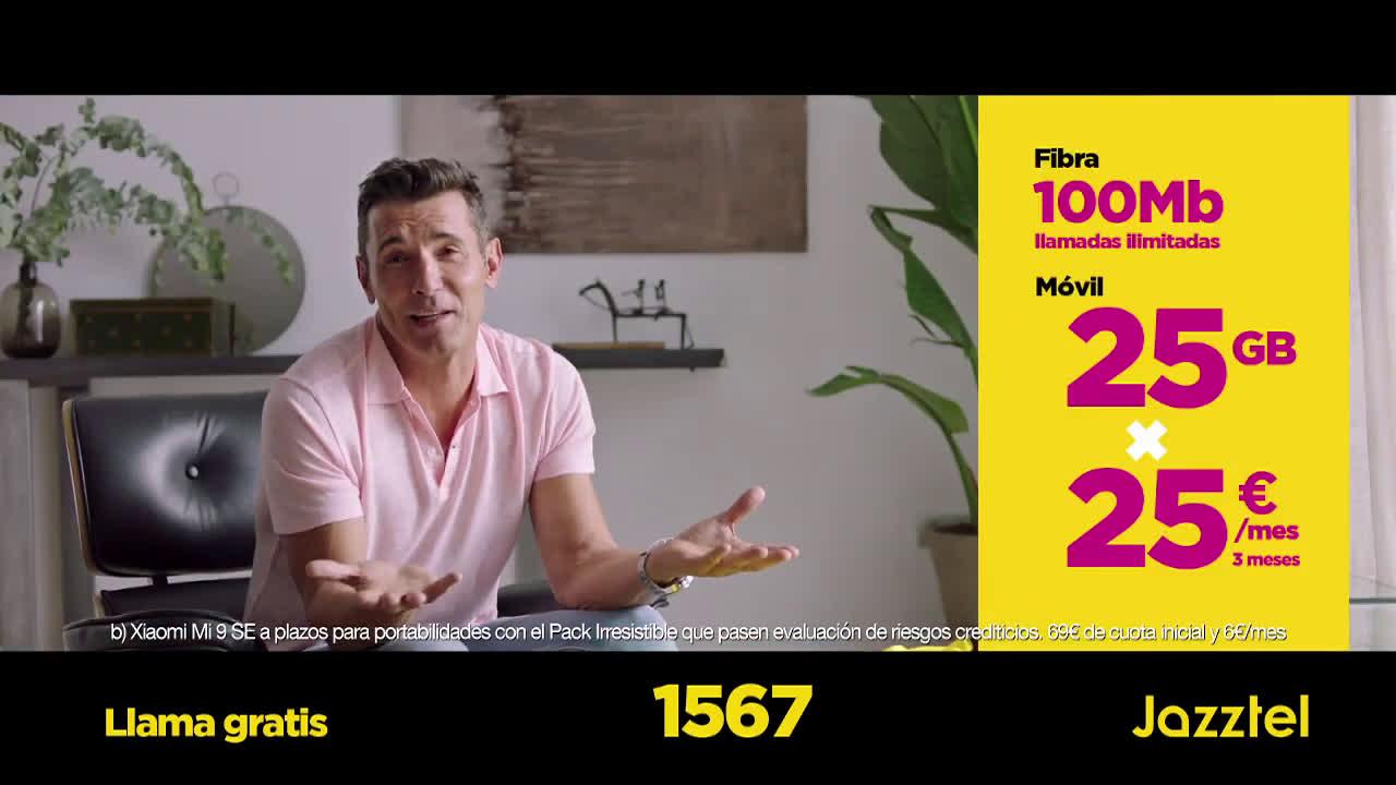 Jazztel Tarifa 25x25 + Xiaomi M9 SE anuncio