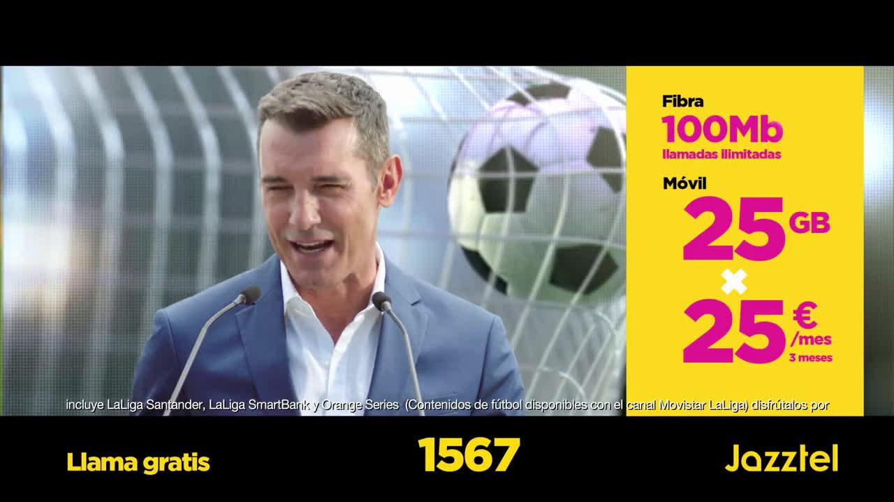 Jazztel Fútbol La Liga - derbi Atlético de Madrid – Real Madrid anuncio