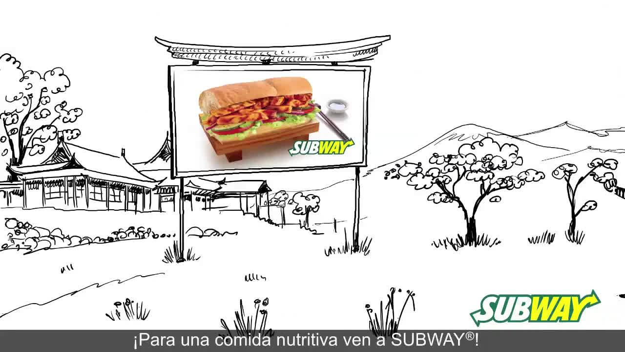 SUBWAY Pollo Teriyaki anuncio
