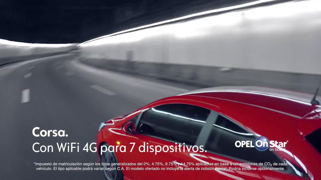 Corsa inlcuye Opel OnStar con WiFi 4G Trailer