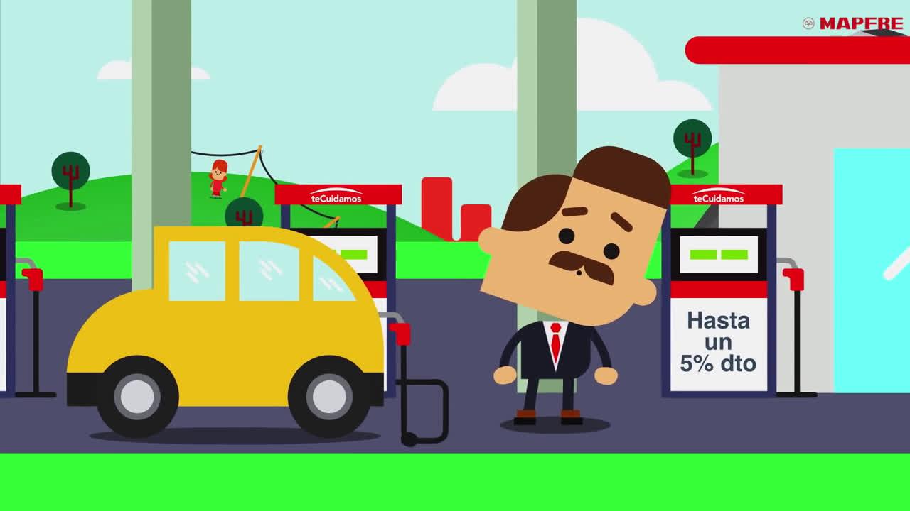 Mapfre te Cuidamos - Ahorra hasta el 5% en carburante con teCuidamos anuncio