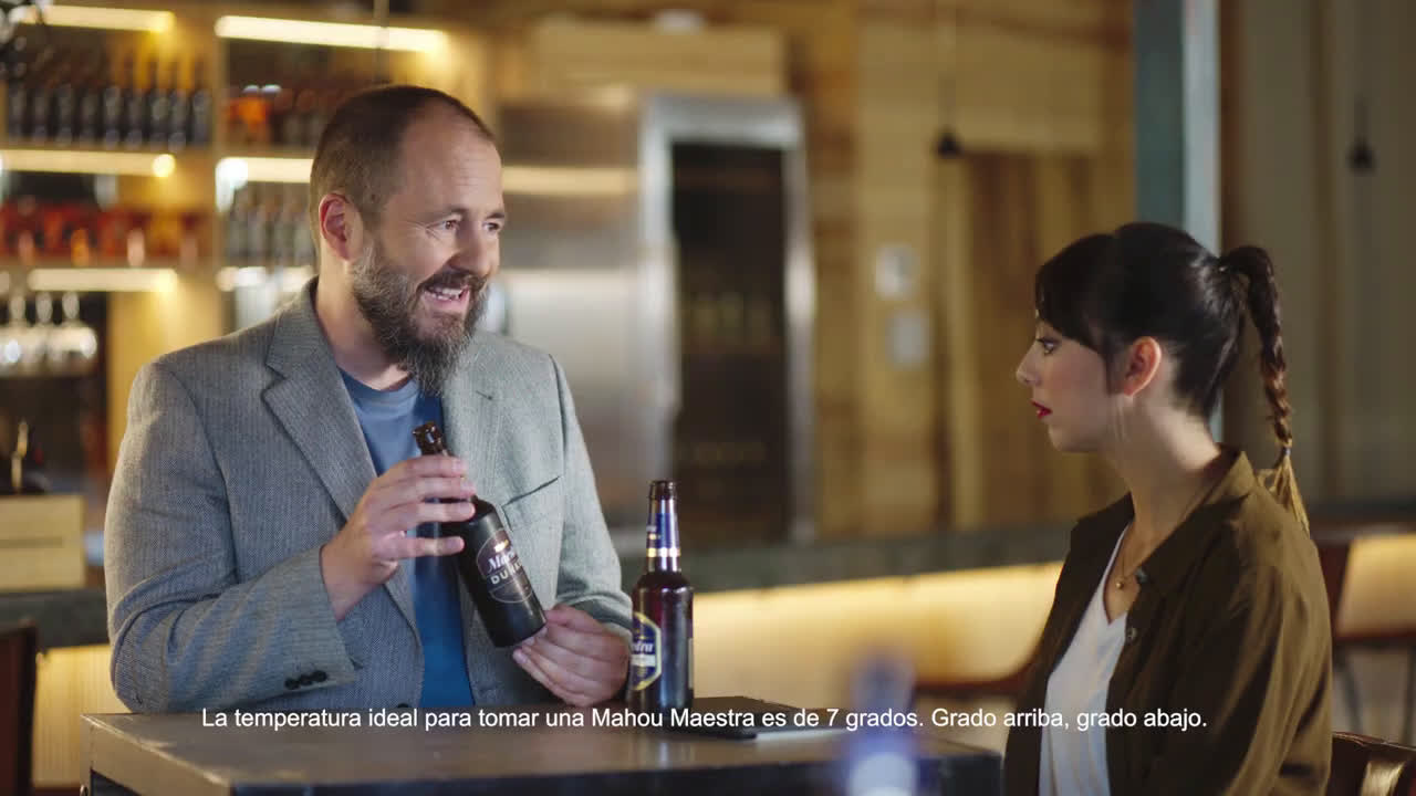 Mahou ¿A qué temperatura se sirve una Maestra de Mahou? | Consultorio Cervecero de Maestra x Maestros anuncio