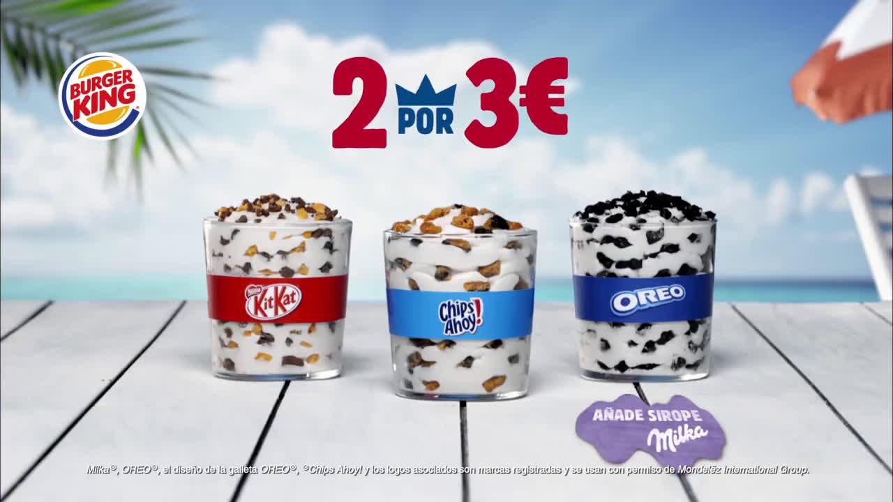 Burger King 2 BK Fusion por 3€ anuncio