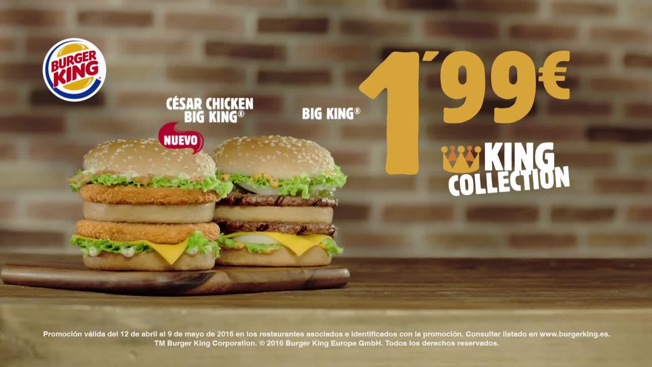 Burger King KING COLLECTION  anuncio