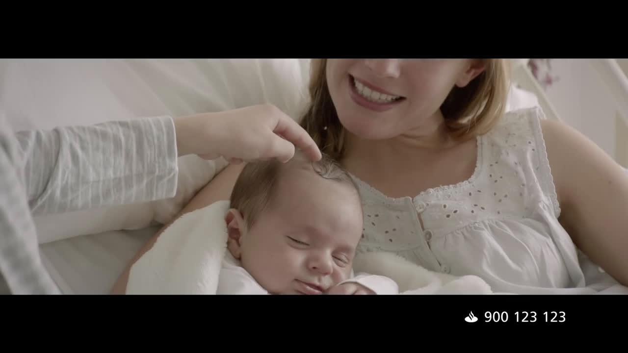 Banco Santander Familia de Cuentas 1I2I3  anuncio