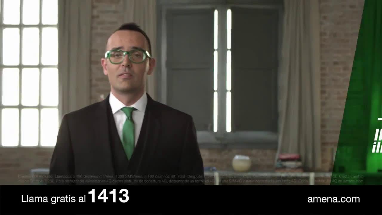 Amena Tarifa 24,95€ 7GB Llamadas ilimitadas 4G anuncio