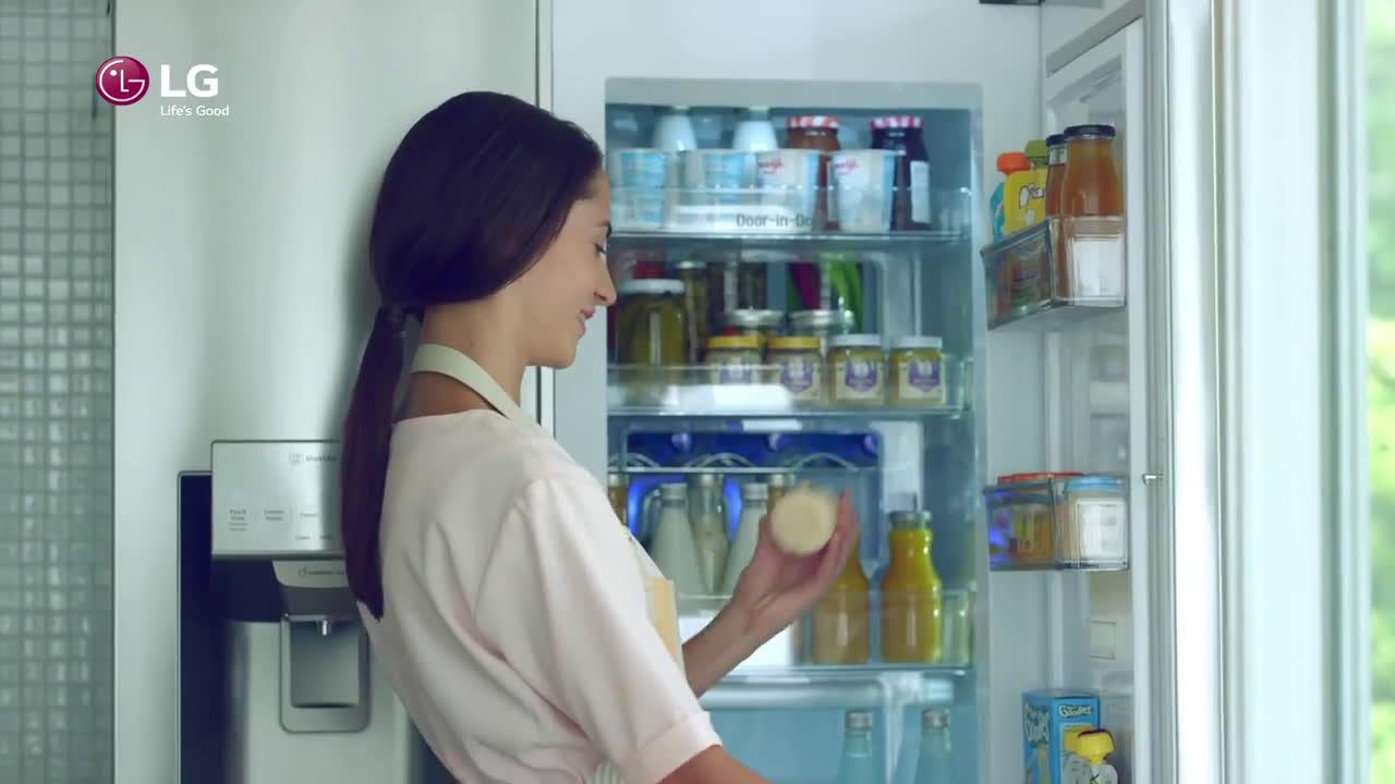 LG Door - in - Door - El bebe jugando baloncesto anuncio