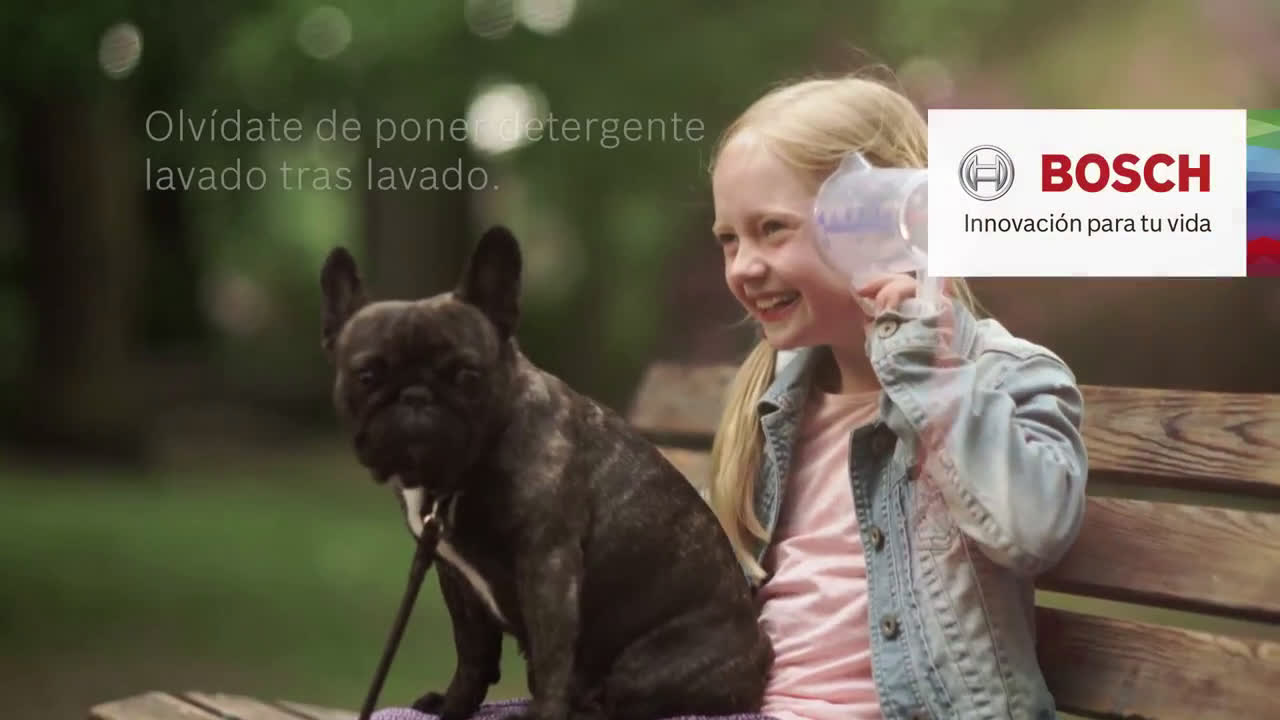 Bosch Olvídate de poner detergente... y juega con los más peques anuncio