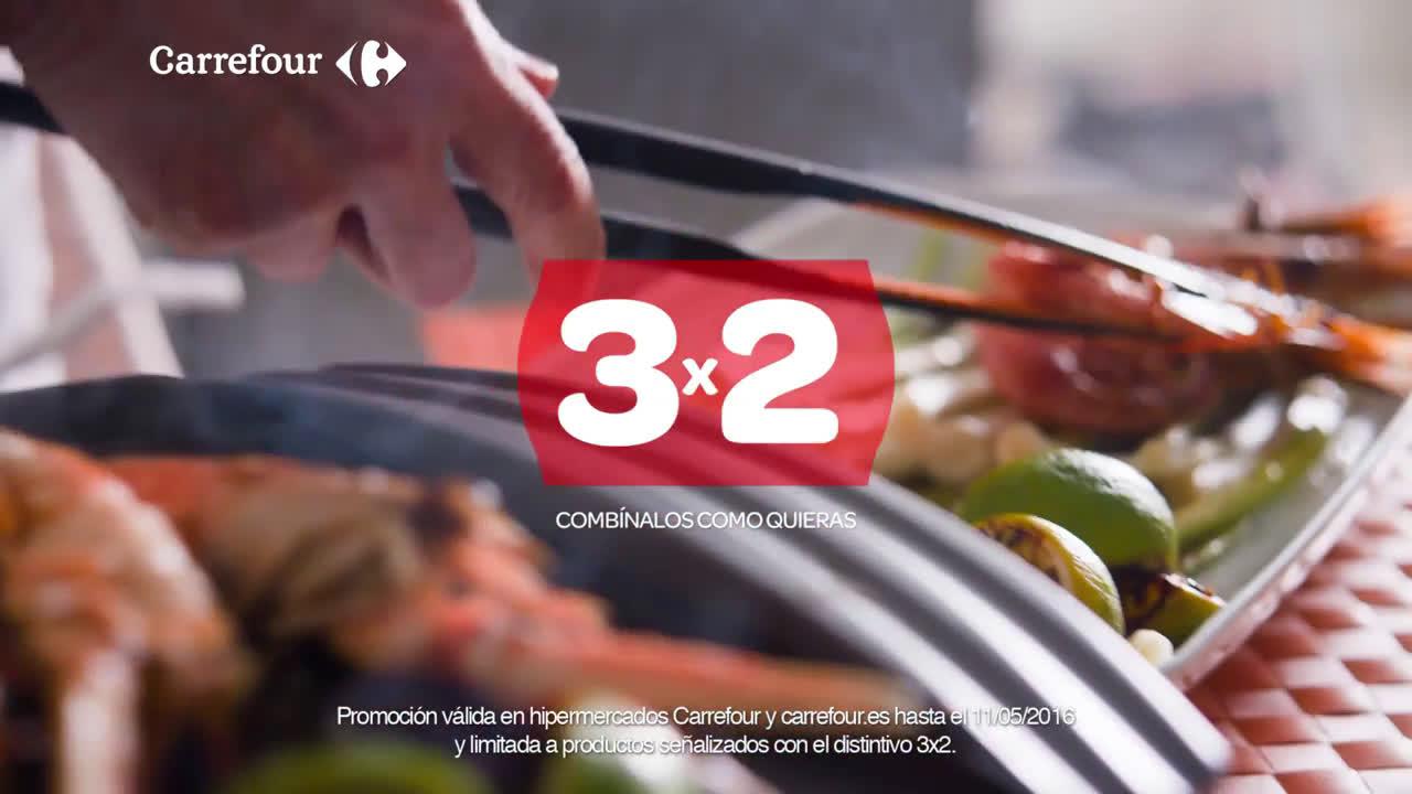 Carrefour 3x2 en Marisco Carrefour (hasta el 11/05/16) anuncio