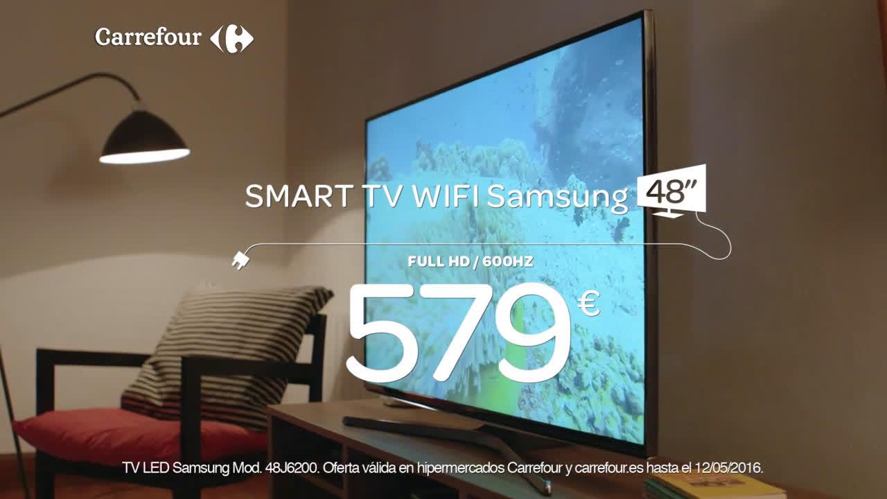 Carrefour Samsung Smart TV WIFI 48´´ por sólo 579 euros (hasta el 12/05/16) anuncio