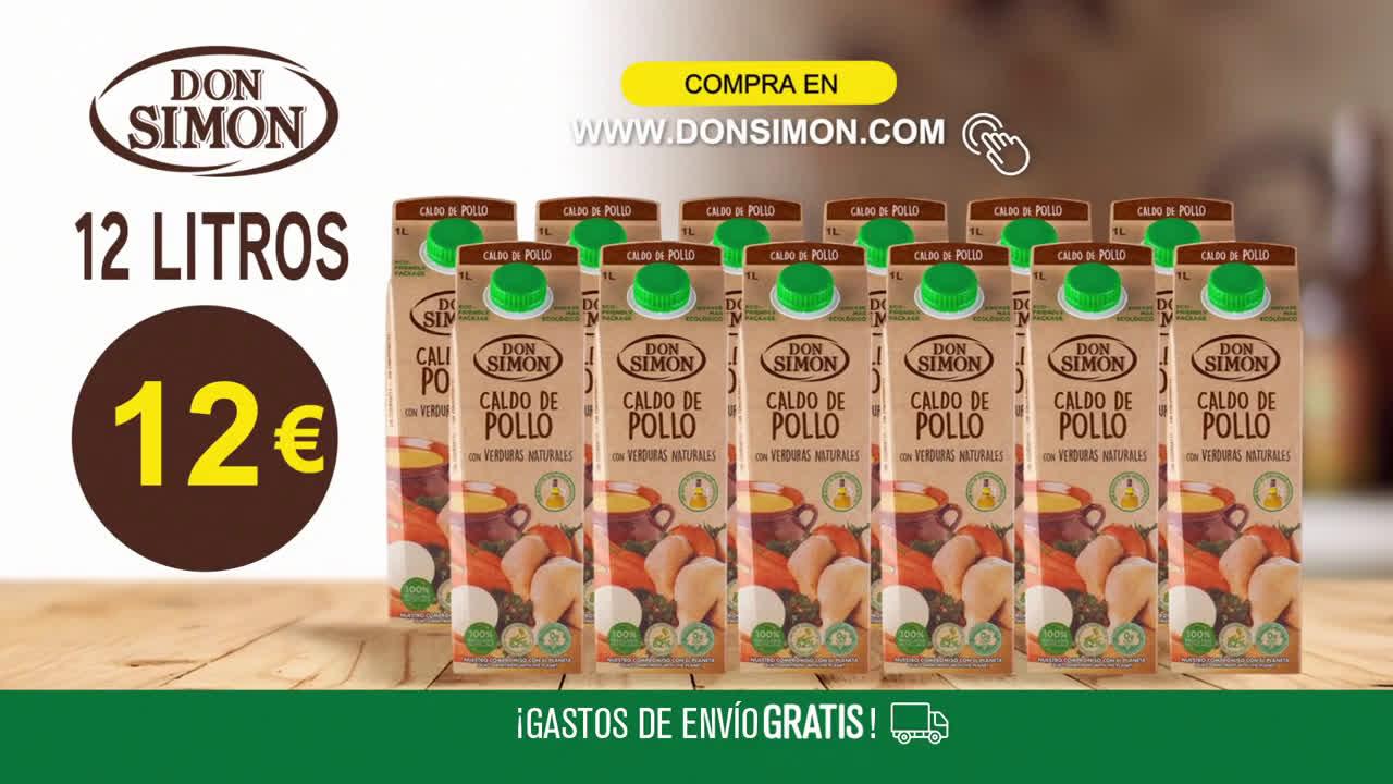 DON SIMÓN Promoción de CALDOS DON SIMON en donsimon.com anuncio