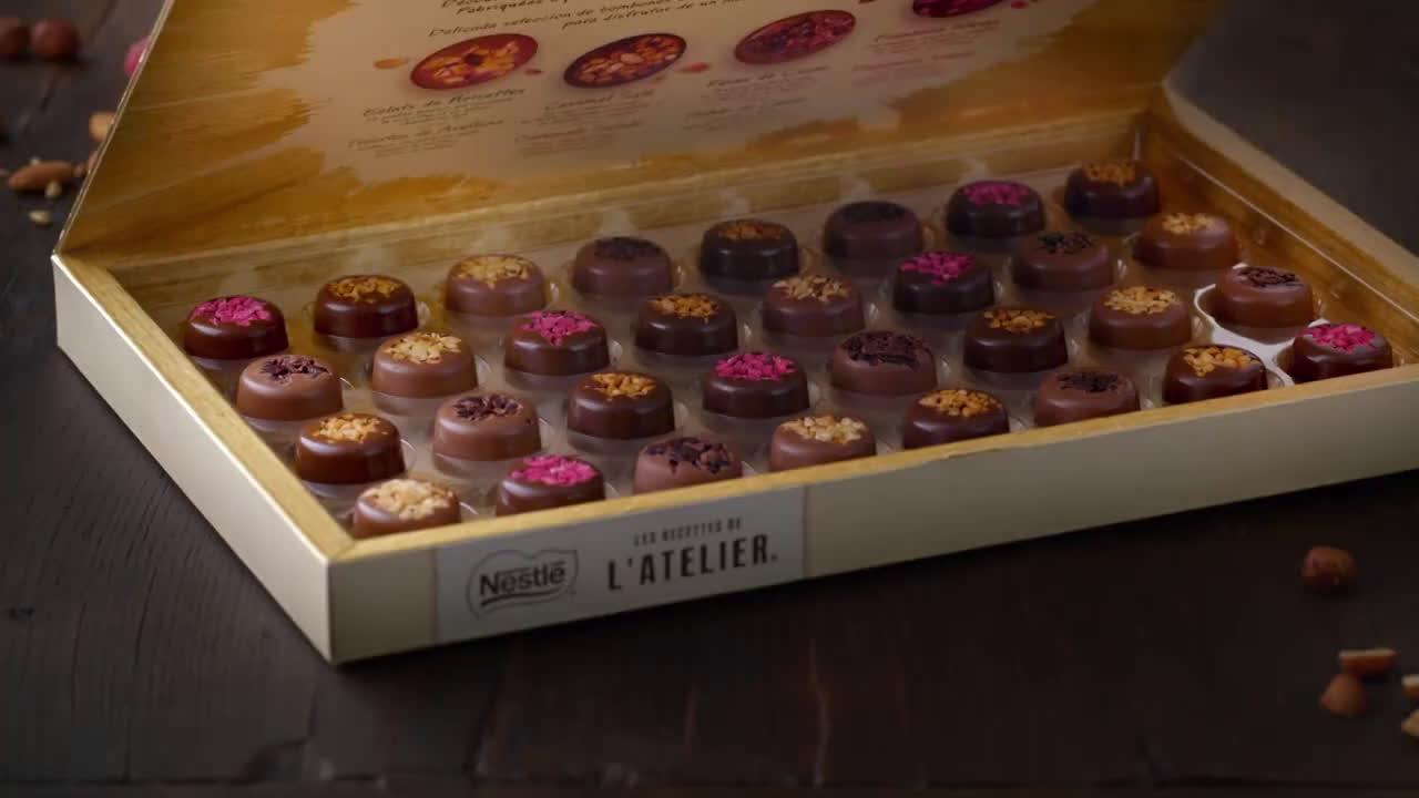 Nestlé Bombones - Les Recettes de l´Atelier, Les Bouchées anuncio