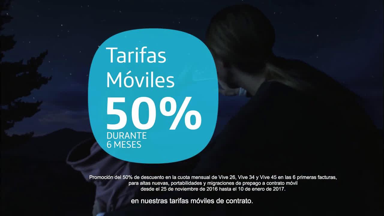 Movistar Tarifas Vive: Esta Navidad, las tarifas Vive a mitad de precio anuncio