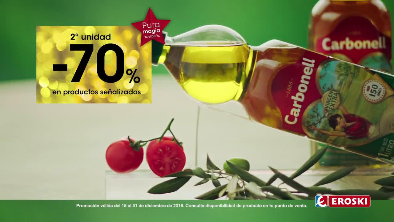 Eroski 2ª unidad al -70% en productos señalizados anuncio