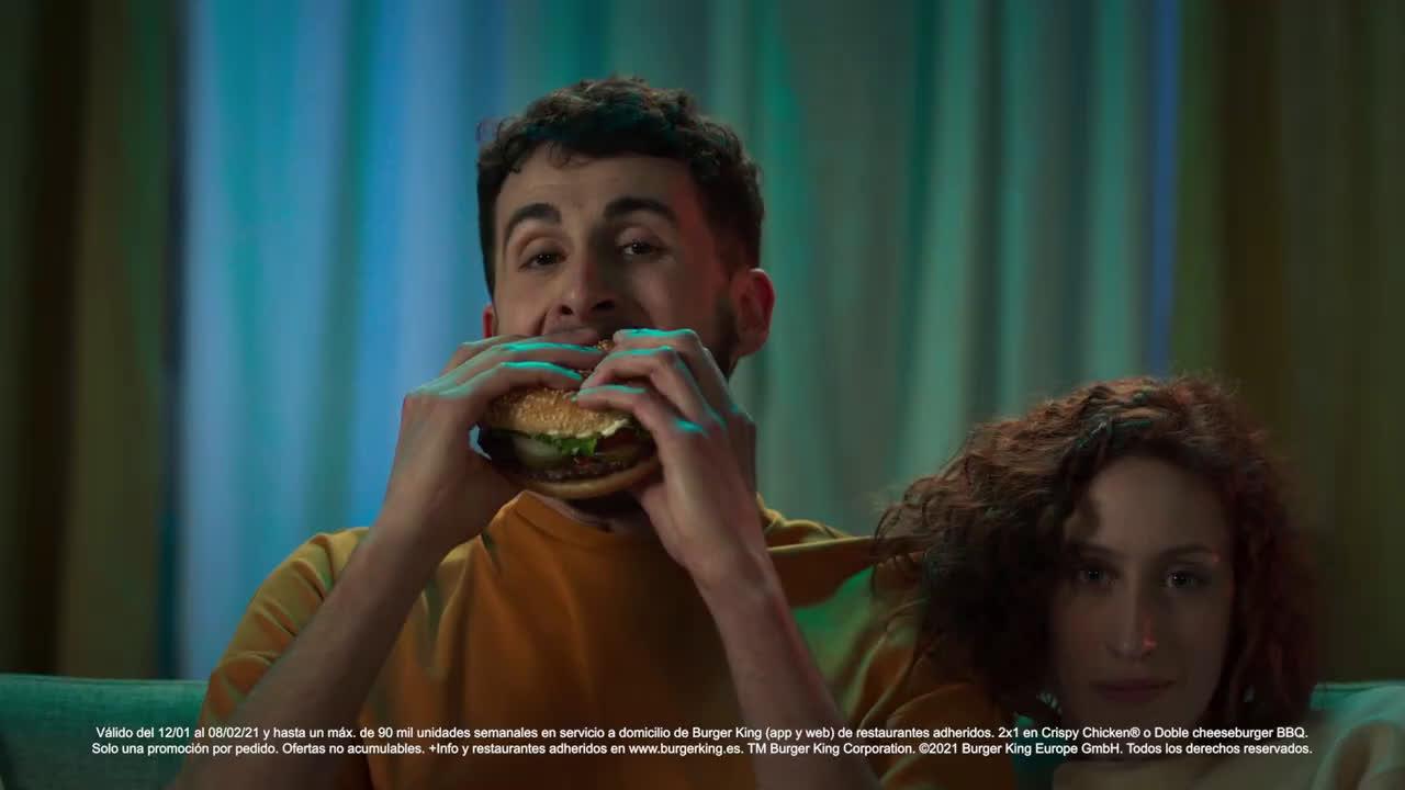 Burger King 2x1 A DOMICILIO anuncio