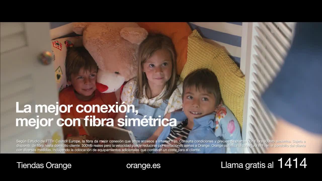 Orange La mejor conexión, mejor con fibra simétrica Huawei P9 + Pack Siempre Conectado anuncio