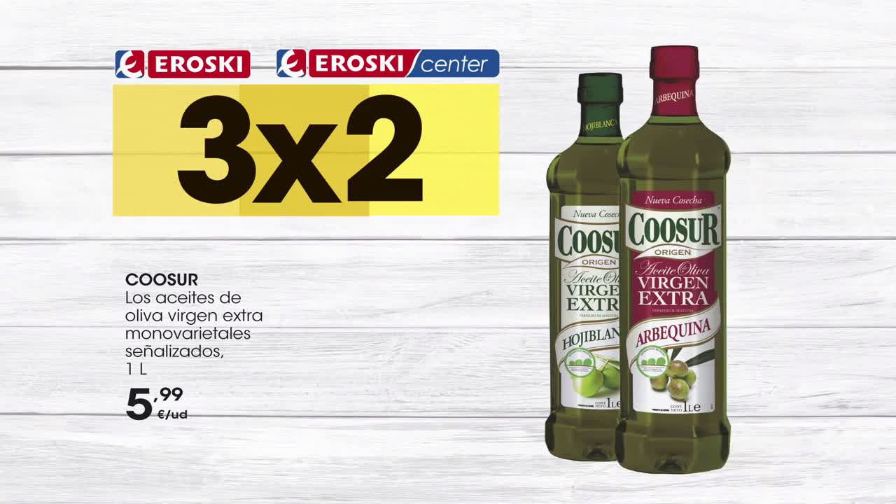 Eroski Disfruta el triple! - Folleto 3x2 anuncio