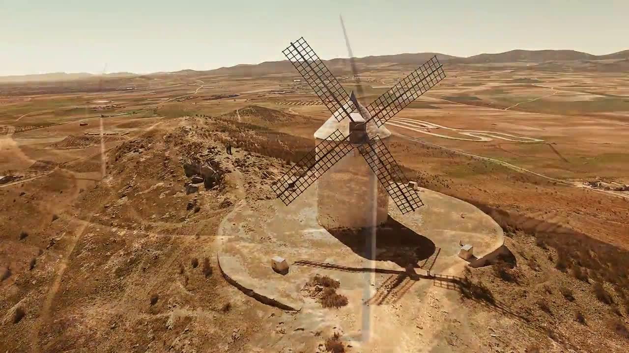 Miguel de Cervantes. El Quijote y los molinos Trailer