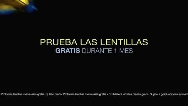 Alain Afflelou Óptico Prueba un mes de lentillas gratis anuncio
