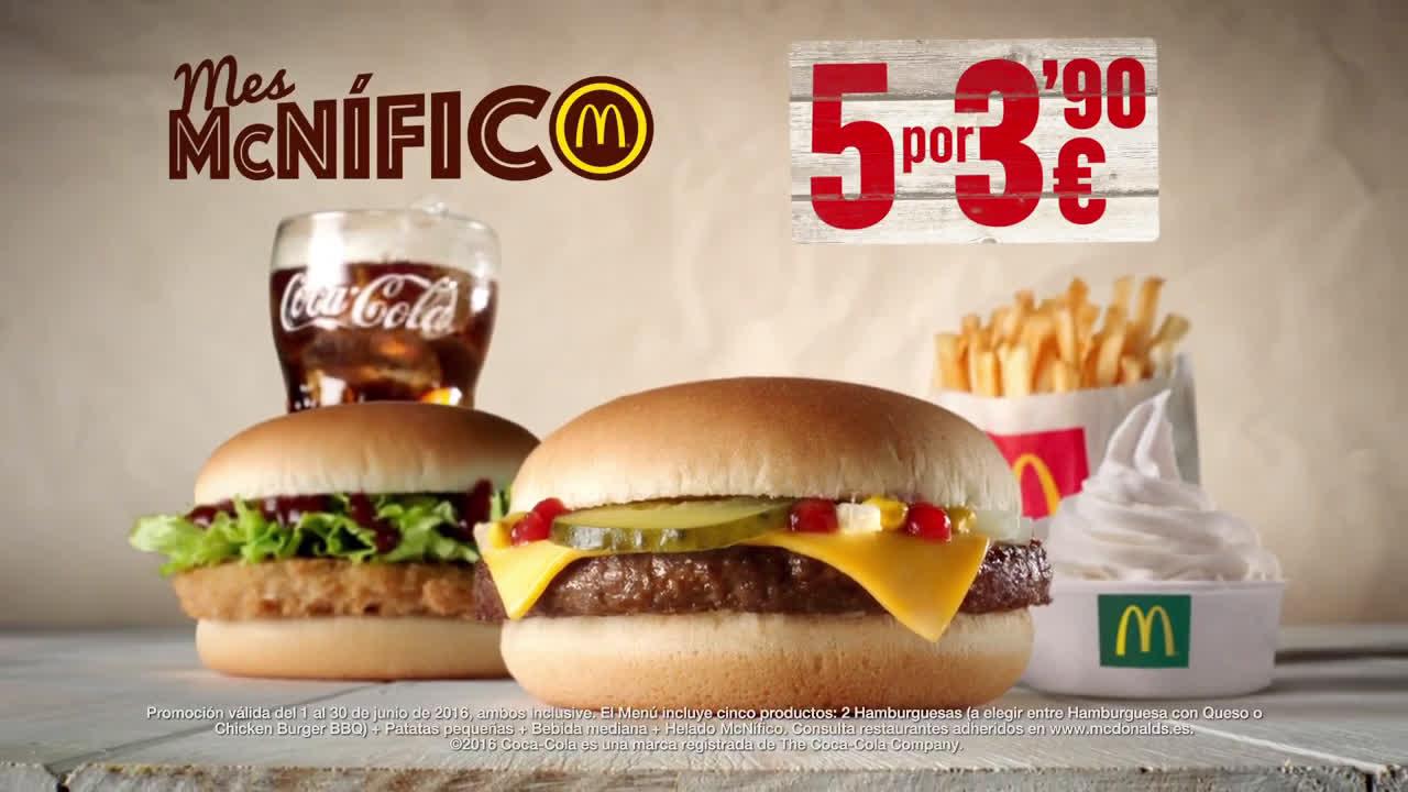 McDonald Vuelve Mes McNífico anuncio
