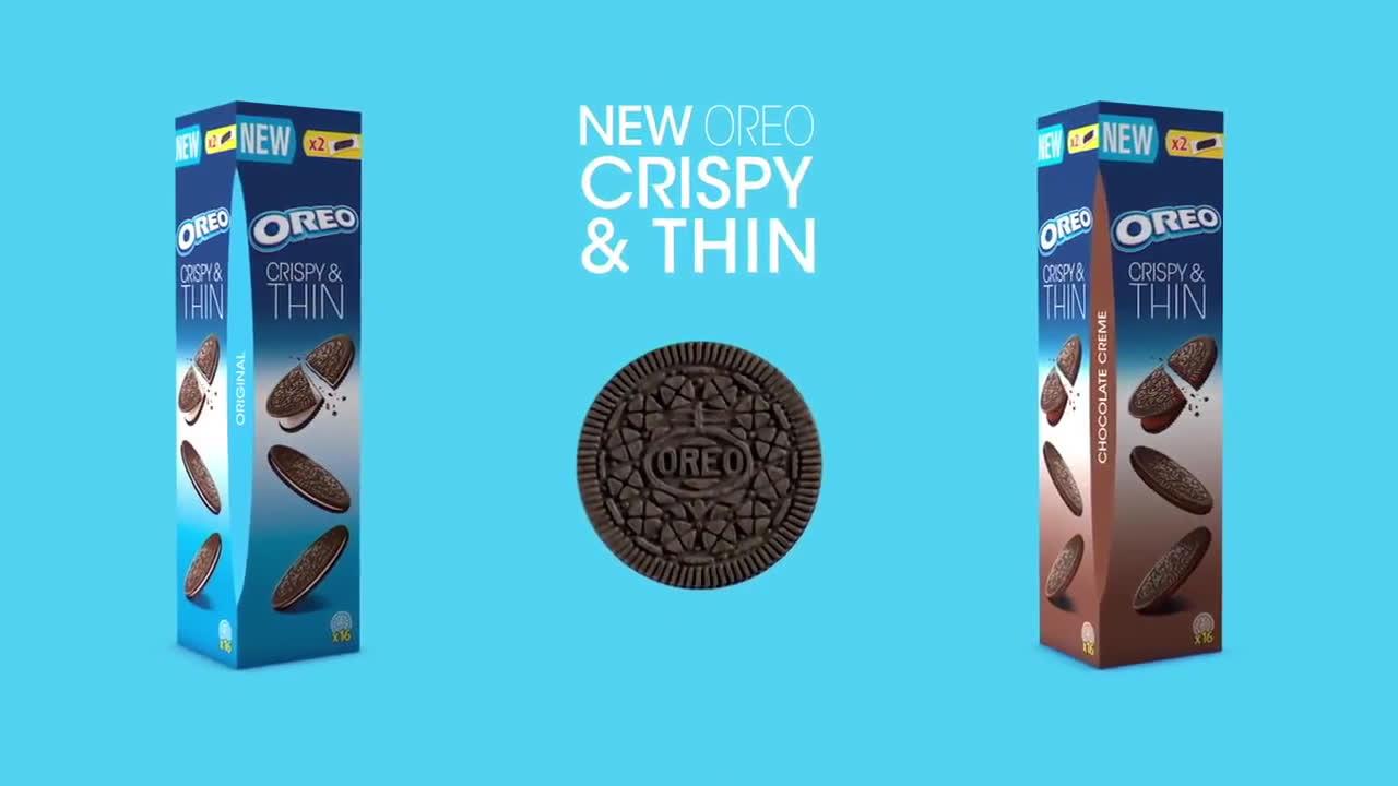Oreo Thins chocolate  anuncio