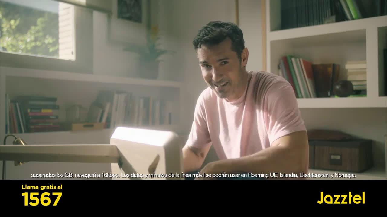 Jazztel fibra y móvil por 21,95€/mes hasta 2019 + TODO el futbol anuncio