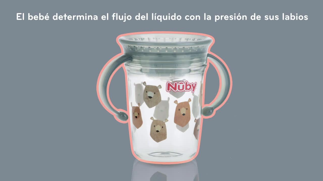 Nuby Tazas Mágicas Tritan 360º anuncio