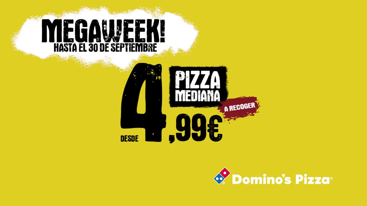 Domino´s Pizza 'Megaweek', de Grey Group Spain para Domino's Pizza anuncio