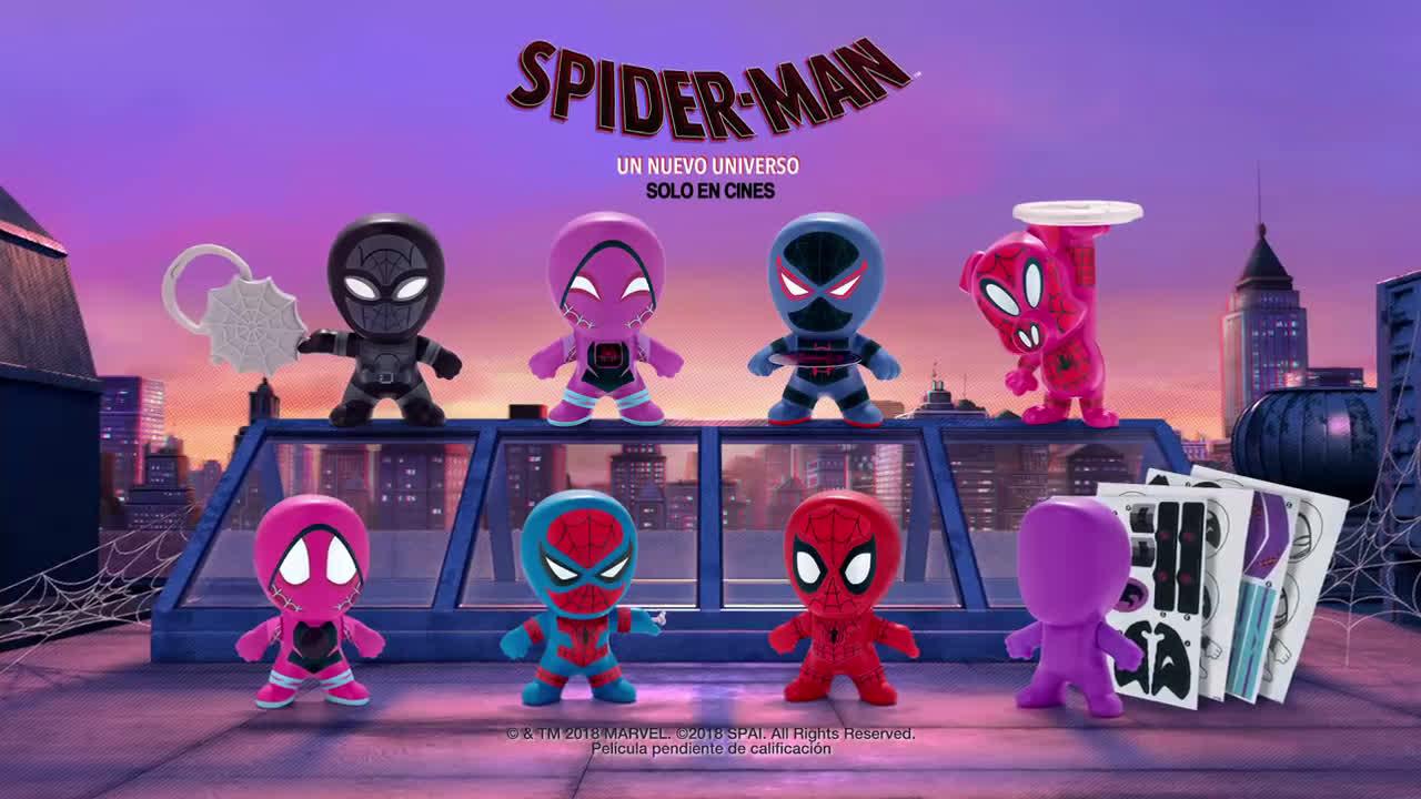McDonald ¡Los muñecos de Spiderman en tu Happy Meal! anuncio