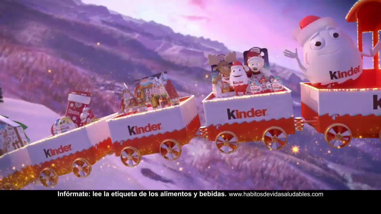 Kinder ¡Llegan Kinderino y el tren mágico Kinder! anuncio