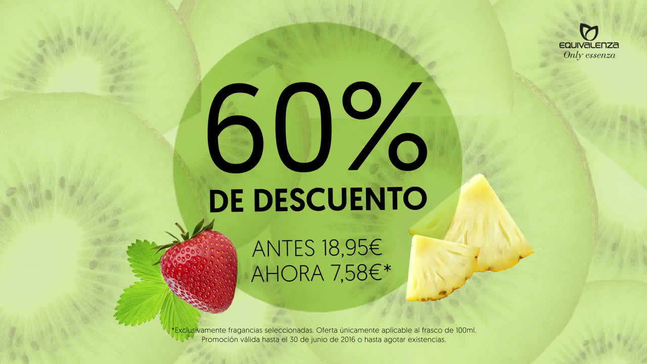 Equivalenza Perfumes Limited Edition: frutas exóticas anuncio