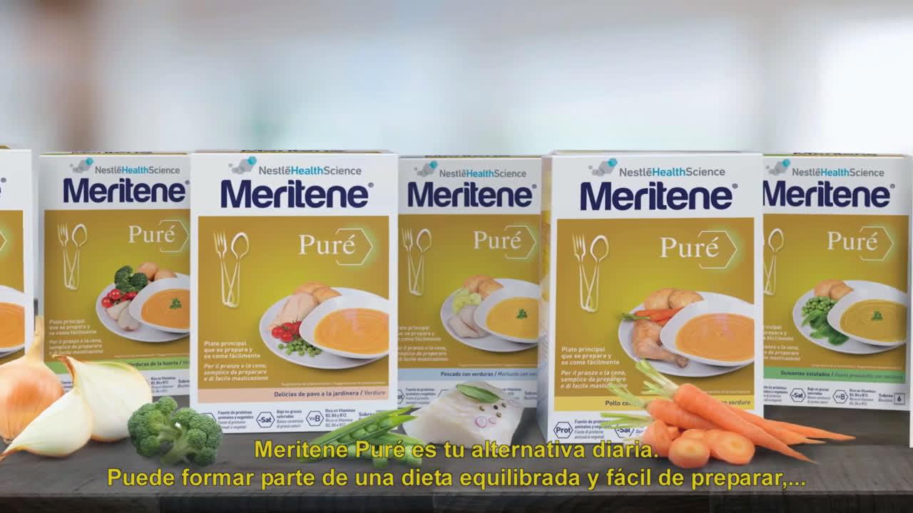 Meritene Puré - Solución nutricional para adultos anuncio