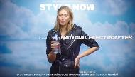evian water featuring natural electrolytes with Maria Sharapova pub tv