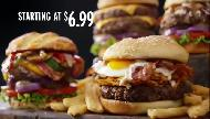 Denny's 100% Beef Burgers  - 100% Made Fresh To Order And 100% Dressed Commercial