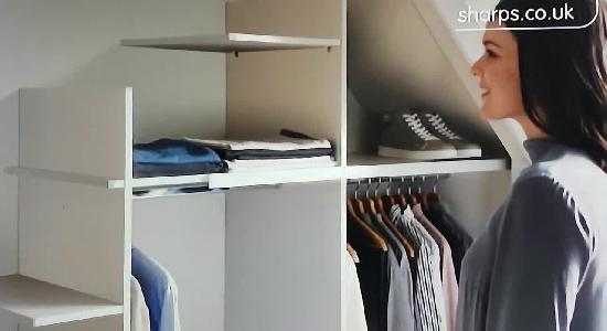 video sharps bedrooms fitted wardrobes advert uk. Black Bedroom Furniture Sets. Home Design Ideas
